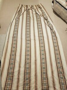 Burberrys Home Pair Of Curtains 140cm Wide Each 210cm Long,lined. Burberry check