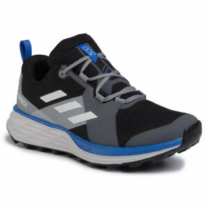 New Adidas Terrex Two Men's Trail Running Shoe Gray/Blue EH1837