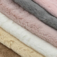 1Yard Plush Imitation Rabbit Fur Fabric DIY Sewing Material Clothing Accessories