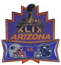 Official Super Bowl Superbowl 49 XLIX Pin Seattle Seahawks New England Patriots