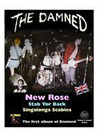 Vinyl Sticker 12x9cm punk damned black car laptop album retro rock goth new rose