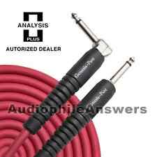 Analysis Plus Genesis Pure RED Instrument Cable Straight to 90 Deg. Plugs 20ft