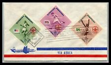 GP GOLDPATH: DOMINICAN REPUBLIC COVER 1957 AIR MAIL FIRST DAY COVER _CV593_P02