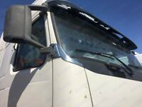 VOLVO FH12-13 Chrome Mirror Bracket Trim Cover 2PCS Stainless Steel