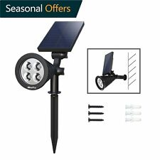Solar Spot Light Outdoor Waterproof Security Led Landscape 4 LED Auto On/Off