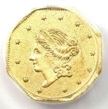 1860 Liberty California Gold Dollar G$1 Coin BG-1102 - Certified PCGS AU Detail!
