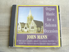 MUSIC FOR A FUNERAL CD religious HYMNS classical J MANN Solemn Occasion humanist