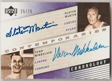 2006-07 Chronology SLATER MARTIN & VERN MIKKELSEN Auto #25/25 AUTOGRAPH Lakers!