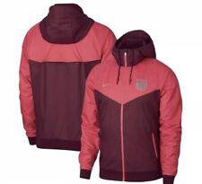 Nike FC Barcelona Windbreaker Jacket Mens Size XL Burgundy Red Raincoat $105