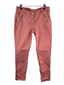 Cambio Denim Jeans Womens Size 10 Pink Stretch Rainbow Zip Ankles Pockets Casual