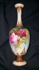 Royal Worcester England 1908 signed- J SH (J Southall)  handpainted vase roses