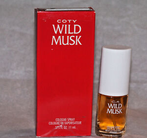 NIB WILD MUSK by Coty Cologne spray .375 oz