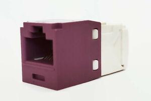 Panduit CJ688TGVL Mini-Com® TX6™ PLUS TG Style UTP Jack Module, Violet Qty 24