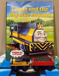 Thomas & Friends Wooden Railway Tank Engine Train LOGAN w/ Cargo & Coal + Book!