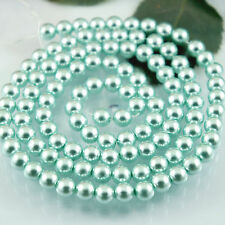 *110pcs Beads-8mm Sky Blue/Aqua Color Imitation Acrylic Round Pearl Spacer*