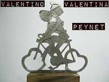 VALENTINO AND VALENTINA RAYMOND PEYNET ON BIKE PEWTER VINTAGE 1970