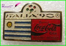 Pin's pins Badge Coca Cola Football Italia 90 Drapeau Pays L' Uruguay #H3