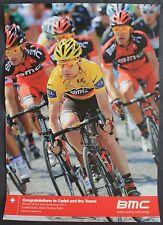CYCLISME  POSTER CADEL EVANS BMC WINNER  TOUR DE FRANCE 2011