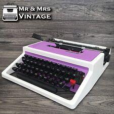 Excellent Underwood 315 Purple & White Typewriter Working Black Red Ribbon