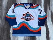 New York Islanders Fisherman Jersey Wendel Clark Vtg Starter Large NHL Preowmed