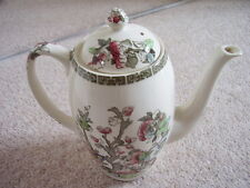 Antique Staffordshire England big porcelain coffee pot,Indian tree
