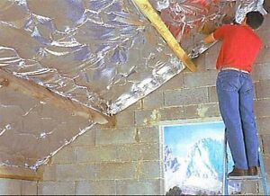6sqm Loft Insulation, Reflective Alu foil sandwich with PE foam not bubble wrap