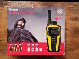 Uniden 40 Mile Range Emergency Two-Way Radios, Black & Yellow SX409-3CKEM 3PACK