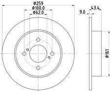 MINTEX MDC2383 BRAKE DISC Rear