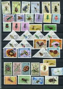INSECTS MNH Lot 45 Stamps