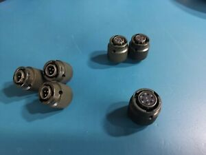 3 , 4 , 6  Pin Circular Connectors Male / Female Type Military Part