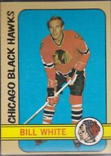 1972-73 TOPPS HOCKEY BILL WHITE #40 BLACK HAWKS EX+ *59118