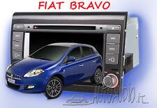 Autoradio 2 din Fiat Bravo 2007-2016 GPS NAVI DVD Blue&Me comp iPhone e Android