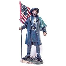CIVIL WAR US SOLDIER WITH FLAG 11-12 INCH RESIN FIGURINE NEW 60960