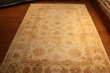 8' X 6' RUG FLORAL DESIGN FINE QUALITY HANDMADE HAND KNOTTED MUTED SOFT COLORS