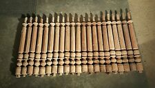 Lot of 21 Antique Wood Spindles Balusters Pillars Posts Architectural Salvage
