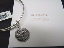 Alex and Ani Silver Bridesmaid Wedding Charm Bracelet Swarovski Gift NWT