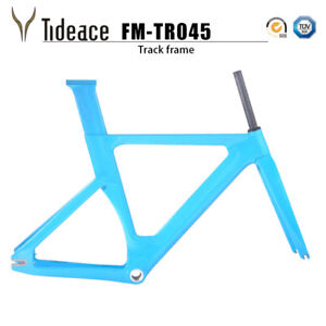 T800 Full Carbon Fixed Gear Bike Frames OEM Carbon Track Bicycle Frameset Fork
