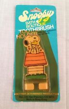 NIB 1970's Snoopy, Woodstock, Peanuts Toothbrush Holder