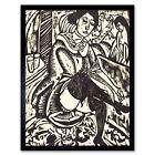 Ernst Ludwig Kirchner German Woman Tying Her Shoe Old Painting Framed Art Print