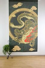 Japanese Curtain Noren Tapestry Hiryu Flying Dragon Interior Doorway Japan Made