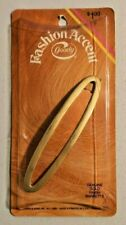 """Vintage goody hair accessories 4.5"""" Gold Barrettes Item No. 5634 NOS --  305"""