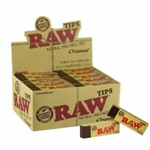 100% Authentic Raw Rolling Paper Tips Packs Roach Full Box 50 PER Booklets UK
