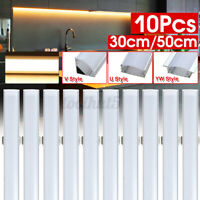 10PCS 30/50CM U/V/YW Style Aluminum Case Shell Milk Cover for LED Strip Bar R R