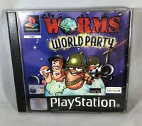 Worms World Party (Sony PlayStation 1, 2002) Complete - Tested & Working