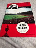 Manchester United V Fulham 15th April 1968