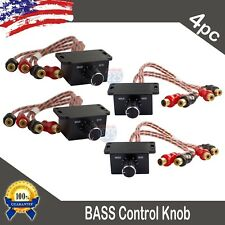 4) Universal Car Audio Amplifier Bass Boost RCA Level Remote Volume Control Knob