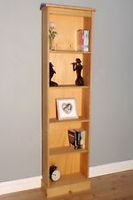 Corona Tall Narrow Large Bookcase Mexican Pine by Mercers Furniture