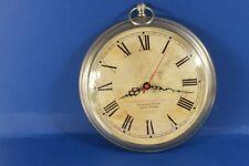 METROPOLITAN wall clock,metal case,battery operated.(ref B 468)