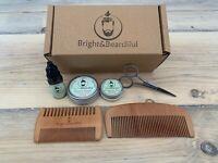 Beard Gift Set | Beard Oil, Balm, Wax | Comb & Scissors | Birthday | Care Kit