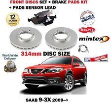 Per Saab 9-3x 1.9 TD TTiD 2.0t 2009 - > Dischi Freno Anteriore 314mm + PAD + SENSORE KIT
